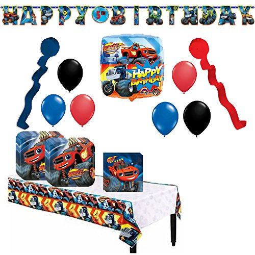 Blaze and the Monster Machines Party Supplies and Balloon Bundle