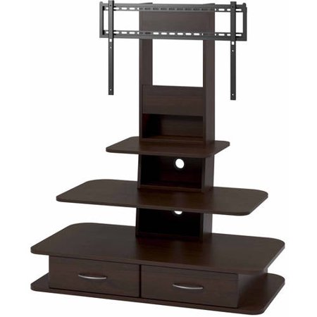 Solar TV Stand with Mount and Drawers for TVs up to 70u0022 Wide - Room & Joy