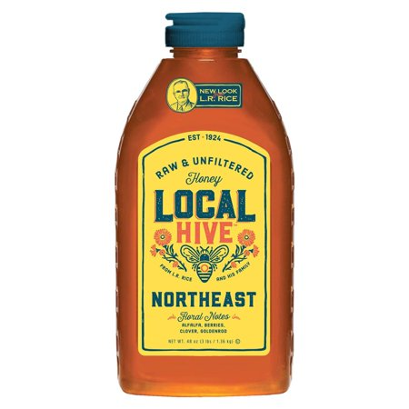 Product of Local Hive Northeast Raw and Unfiltered Honey, 48 oz. [Biz