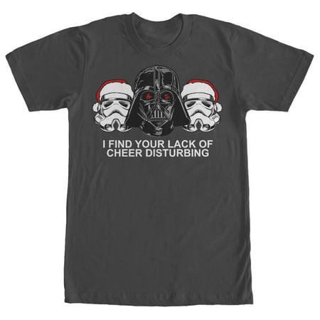 star wars star wars mens christmas empire lack of cheer t shirt walmartcom