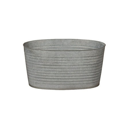 Emissary Home And Garden Oval Galvanized Zinc Tub