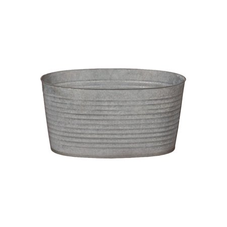 Emissary home and garden oval galvanized zinc tub for Large metal tub for gardening