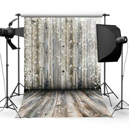 3ft x 5ft Vinyl Fabric Dreamy Grey Wooden Wall Floor Photography Background Screen Backdrop Studio Prop - Dreamy Halloween Backgrounds