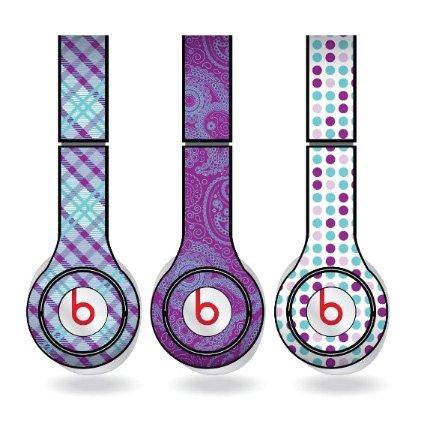 Purple & Teal Skins for Beats Solo HD Headphones – Set of 3
