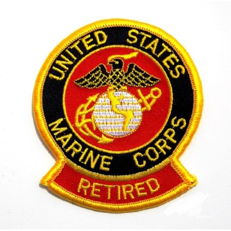 Usmc Military Patch - Marine Corps Retired USMC Semper Fi Embroidered Military Patch AKPM102