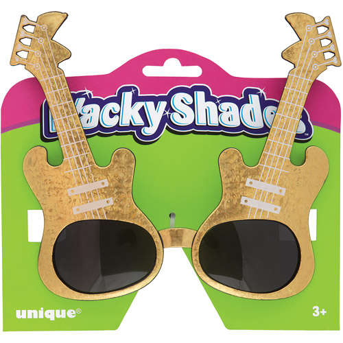 Gold Guitar Novelty Glasses