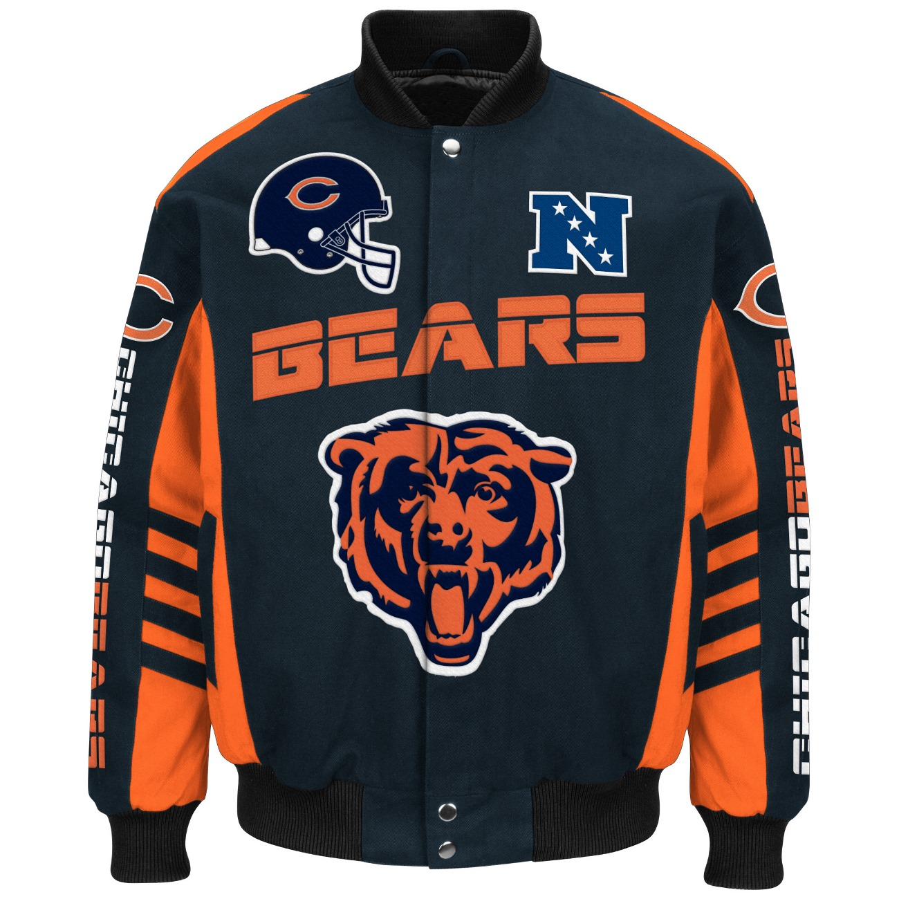 "Chicago Bears Men's NFL G-III ""Defender"" Premium Twill Jacket by G-III Sports"