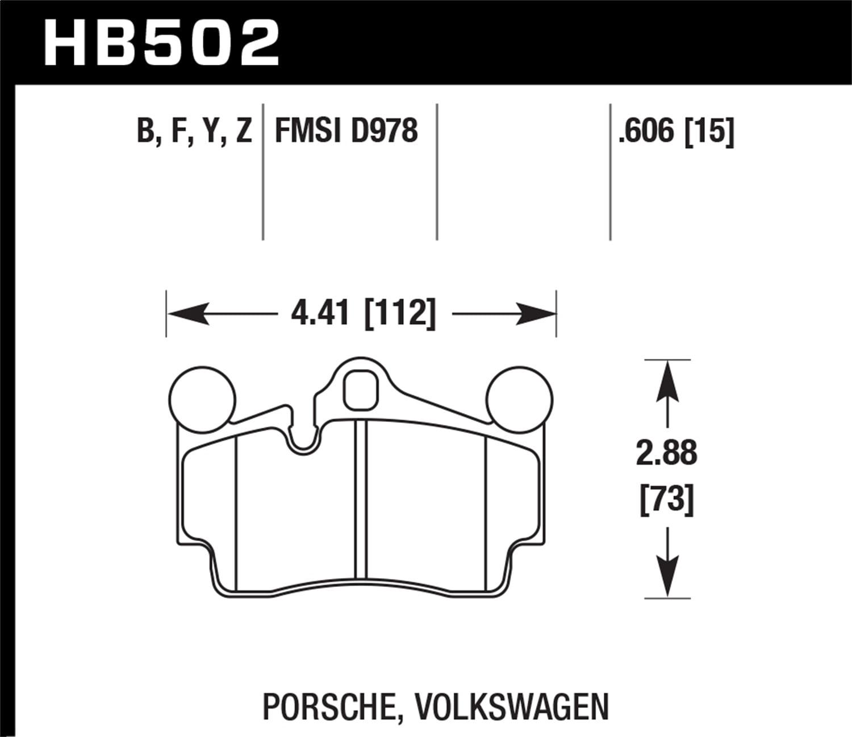 Front Ceramic Brake Pads Kit 2014-2017 Volkswagen Touarge w//300mm Front Rotors
