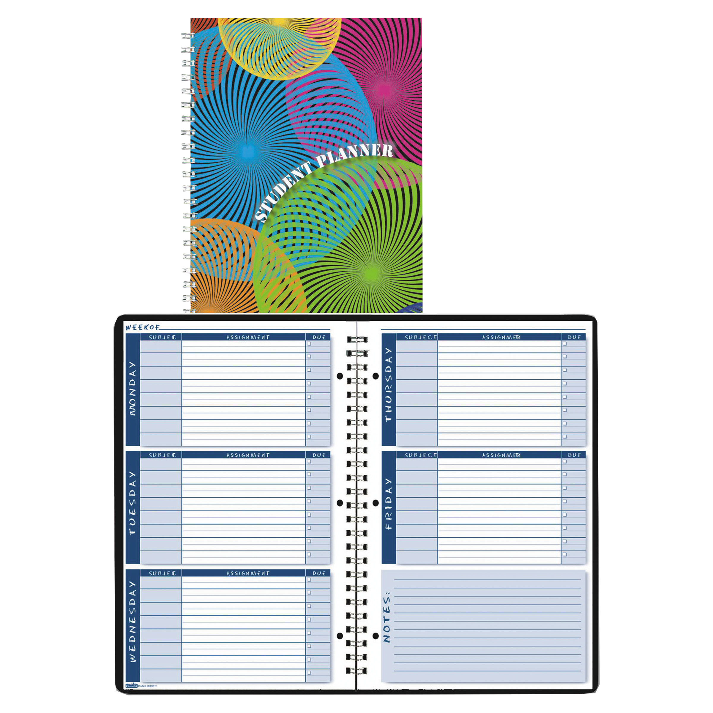 House of Doolittle Nondated Assignment Book For Intermediate Grades, 7 x 11, Blue/White Pages
