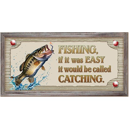 Fishing, If It Was Easy It Would Be Called Catching [3 Pack] of Vinyl Decal Stickers | Indoor/Outdoor | Funny decoration for Laptop, Car, Garage , Bedroom, Offices | SignMission