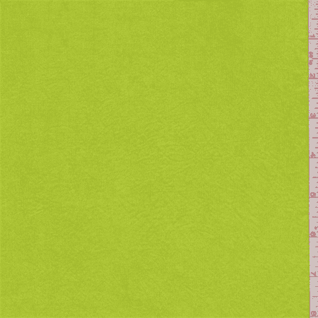 Electric Lime Shimmer Jersey Knit, Fabric By the Yard