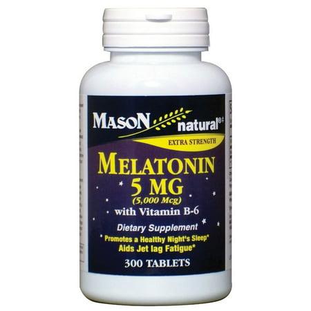 Mason Vitamins Melatonin 5mg Tablets, 300 Ct