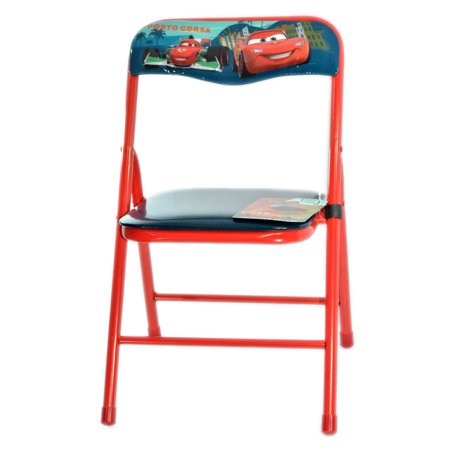 red disney cars porto corsa metal folding chair for kids