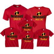 4de6809e8 Halloween Matching Christmas T-Shirts Incredible Family MOM DAD KIDS  GoCustom