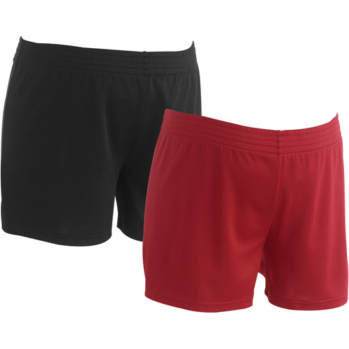 Danskin Now Maternity Basic Mesh Shorts, 2-Pack Value Bundle