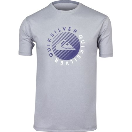 Quiksilver Mens Razors SS UPF 50 Surf Tee Shirt - Light Gray