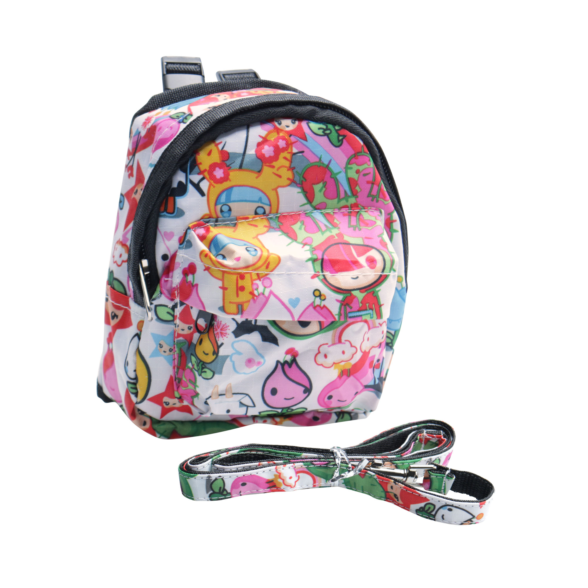 Dog Pet Backpack Cartoon Printed Carrier Bag Holder with Leash Rope for Outdoor Travel Camping #4, S