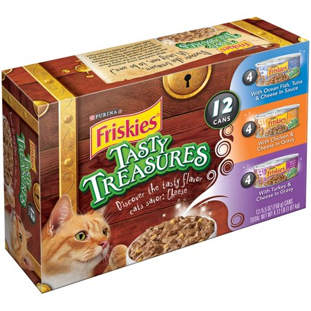 Purina Friskies Tasty Treasures Variety Pack Cat Food 12-5.5 oz. Cans