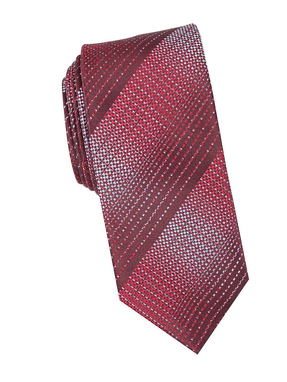 Wages Plaid Slim Tie