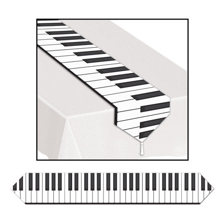 Club Pack of 12 Printed Piano Keyboard Table Runner 6' - Piano Runner
