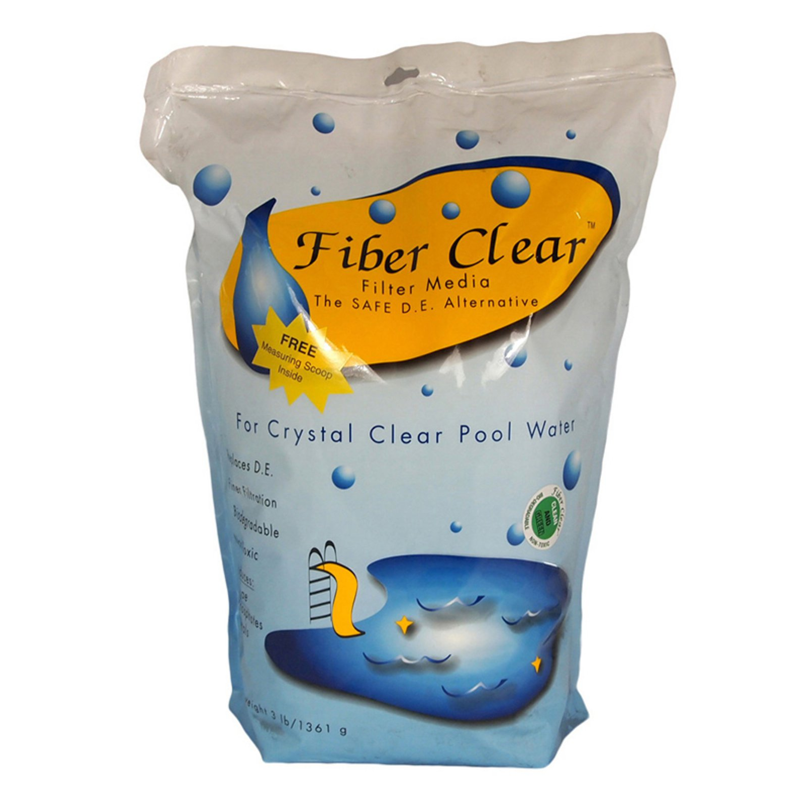 Fiber Clear Cellulose Filter Media D.E. Alternative for Swimming Pools