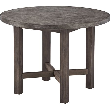 concrete chic round dining table. Black Bedroom Furniture Sets. Home Design Ideas