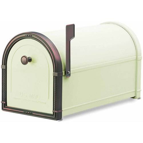 Architectural Mailboxes Coronado Mailbox, Black with Antique Bronze Accents