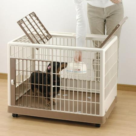 Richell Pet Training Kennel PK-830, White/Mocha, 32.5