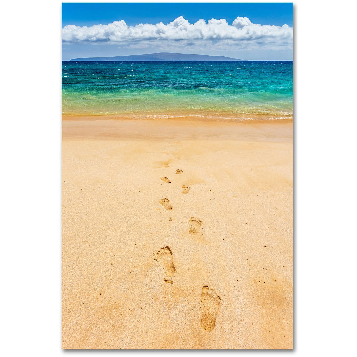 Magnificent Footprints In The Sand Wall Art Ensign - Wall Art ...