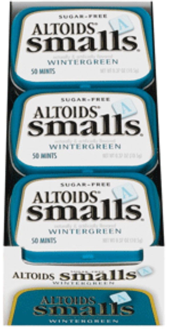 Altoids Smalls Sugar Free Wintergreen Mints 9 packs (0.5oz per pack) (Pack of 2) by