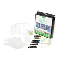 Crayola Signature Paint-Pour Canvas Art Kit