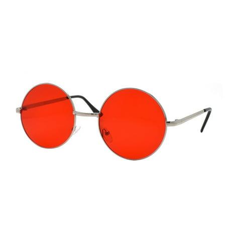 John Lennon 60's Vintage Round Hippie Sunglasses P2012 ()