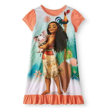 Girls' Moana Pajama Nightgown - Disney Princess Dressing Gowns