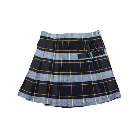 41b59afa50 FRENCH TOAST - French Toast School Uniform Girls Regular & Plus Sizes Pleat  Plaid Scooter Skirt, 35136 blue gold plaid / 16.5Plus - Walmart.com