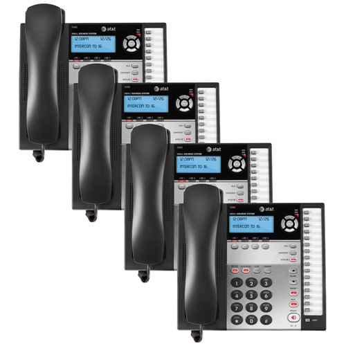 AT&T 1040 (4 Pack) 4-Line Expandable Speaker Phone with Answering System and Caller ID by