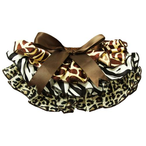 Baby Girls Animal Print Satin Precious Bloomers 0-36 Months