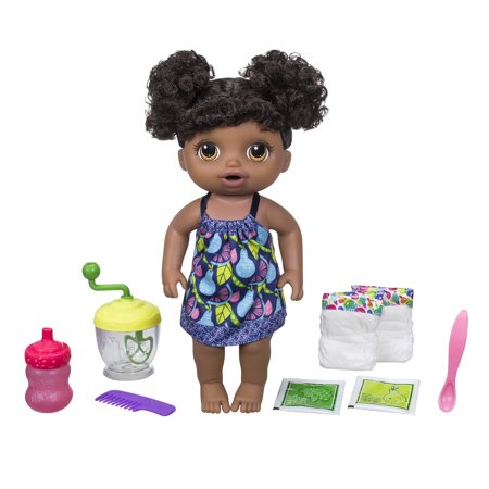 (Baby Alive Sweet Spoonfuls Baby Doll Girl-Black Hair)