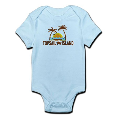 CafePress - Topsail Island NC - Palm Trees Design Infant Bodys - Baby Light Bodysuit