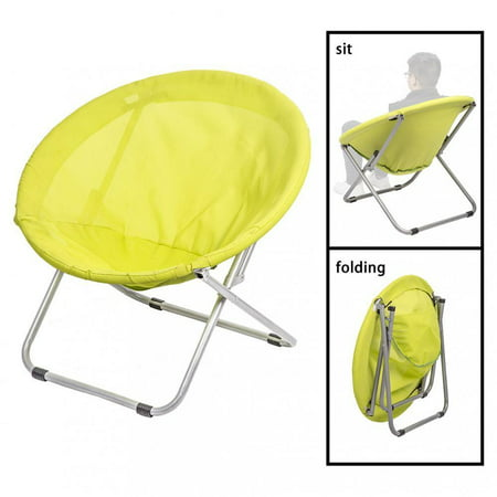 Wholesale Tables Chairs - Large Folding Saucer Moon Chair Corduroy Round Seat Living Room MC34