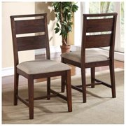 Portland Side Chair (Set of 2), Wood, Upholstered, Side Chair, Wood, Contemporary, Eco-Friendly