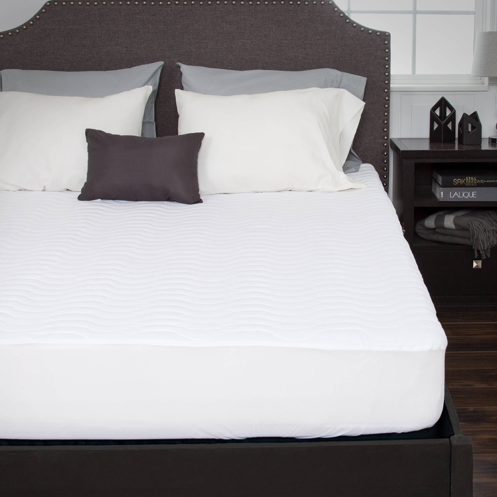 Somerset Home Down Alternative Mattress Pad with Fitted Skirt by Trademark Global LLC