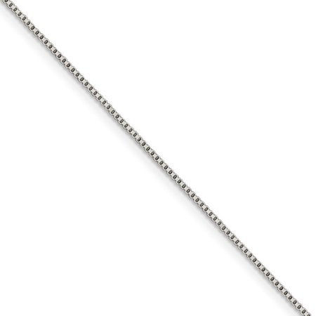 0.9mm, Sterling Silver, Solid Box Chain Necklace