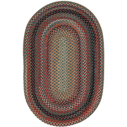 Franklin Braided Oval Runner Rug, 2' x 8'