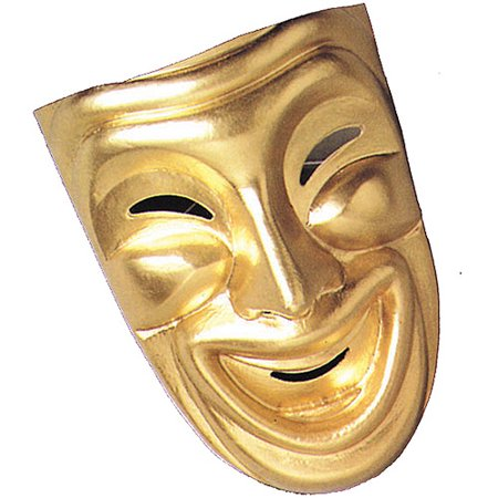 Gold Theatre Comedy Mask for Halloween Costume - Ma Halloween Attractions