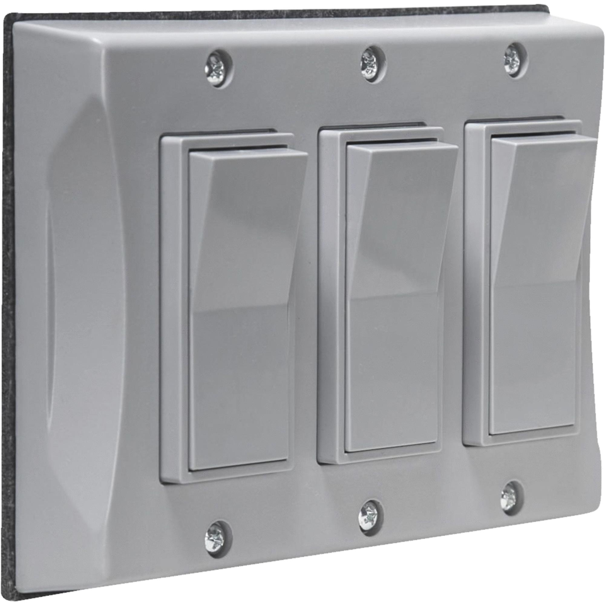Hubbell Taymac 5129 0 3 Gang Weatherproof Decorator Vertical Cover