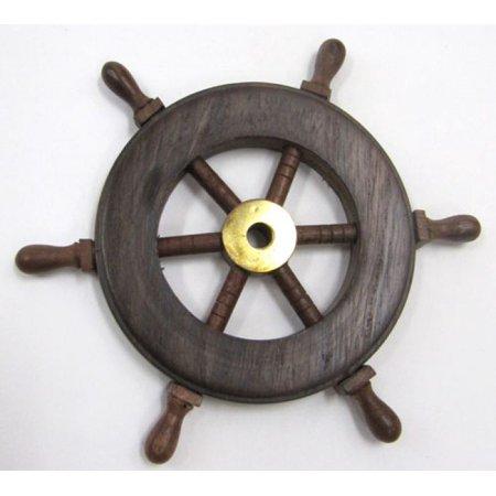 India Overseas Trading Sh8758   Wooden Ship Wheel  6