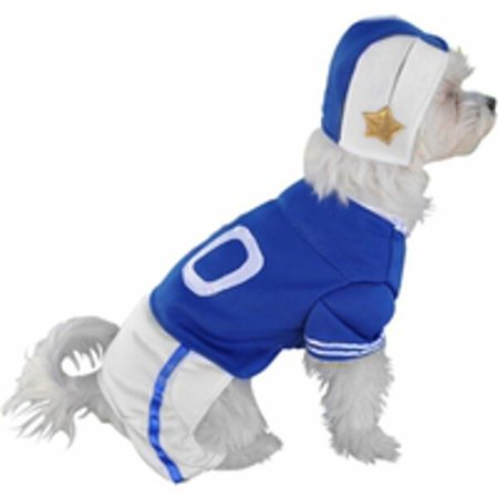 Dog Football Costume (Blue Football Player Dog Costume~Large 16-20 Inches /)