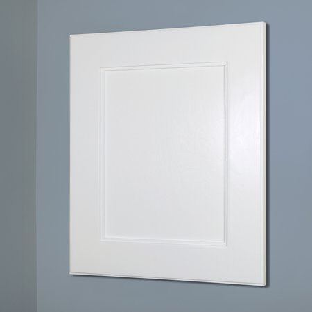 14x18 White Shaker Style Recessed Medicine Cabinet With No Mirror