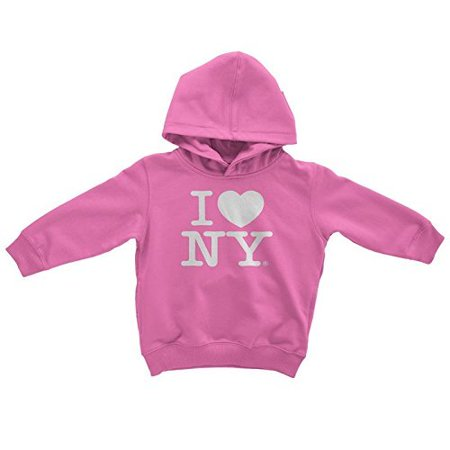 Nyc Factory I Love Ny New York Kids Hoodie Screen Print Heart