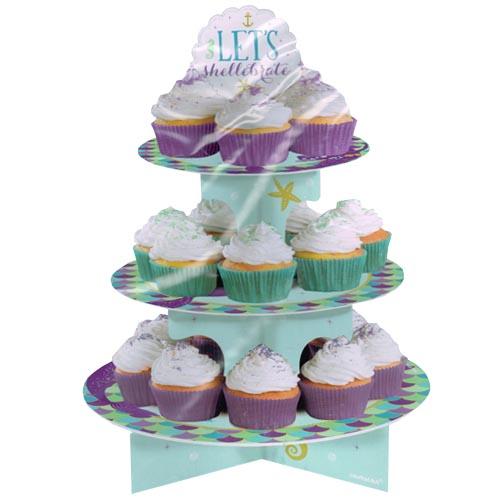 Mermaid 'Mermaid Wishes' 3-Tiered Cupcake Stand (1ct)